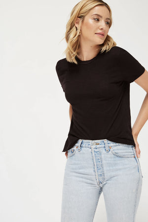 Gauze Baby Tee | Black | LACAUSA NZ | Tops NZ | Black Box Boutique Auckland | Womens Fashion NZ