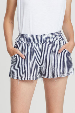 Womens Beach Short | Stripe | Bottoms NZ | COMMONERS NZ | Black Box Boutique Auckland | Womens Fashion NZ