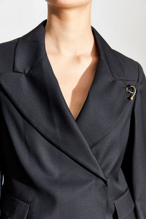 Double Breasted Beam Blazer | Black | WYNN HAMLYN NZ | Outerwear NZ | Black Box Boutique Auckland | Womens Fashion NZ