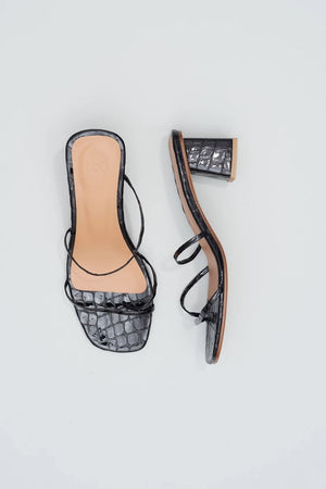 Manola | Black Patent Croc | Footwear NZ | LOQ NZ | Black Box Boutique Auckland | Womens Fashion NZ