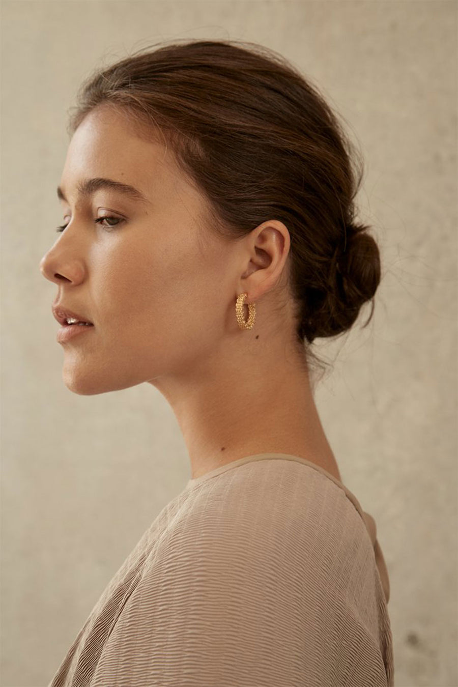Malla Stud Hoops | Gold | Jewellery NZ | BRIE LEON NZ | Black Box Boutique Auckland | Womens Fashion NZ