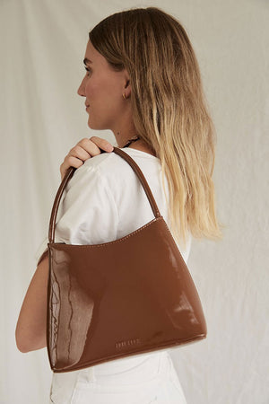 The Chloe | Muted Brown Patent | Bags NZ | BRIE LEON NZ | Black Box Boutique Auckland | Womens Fashion NZ