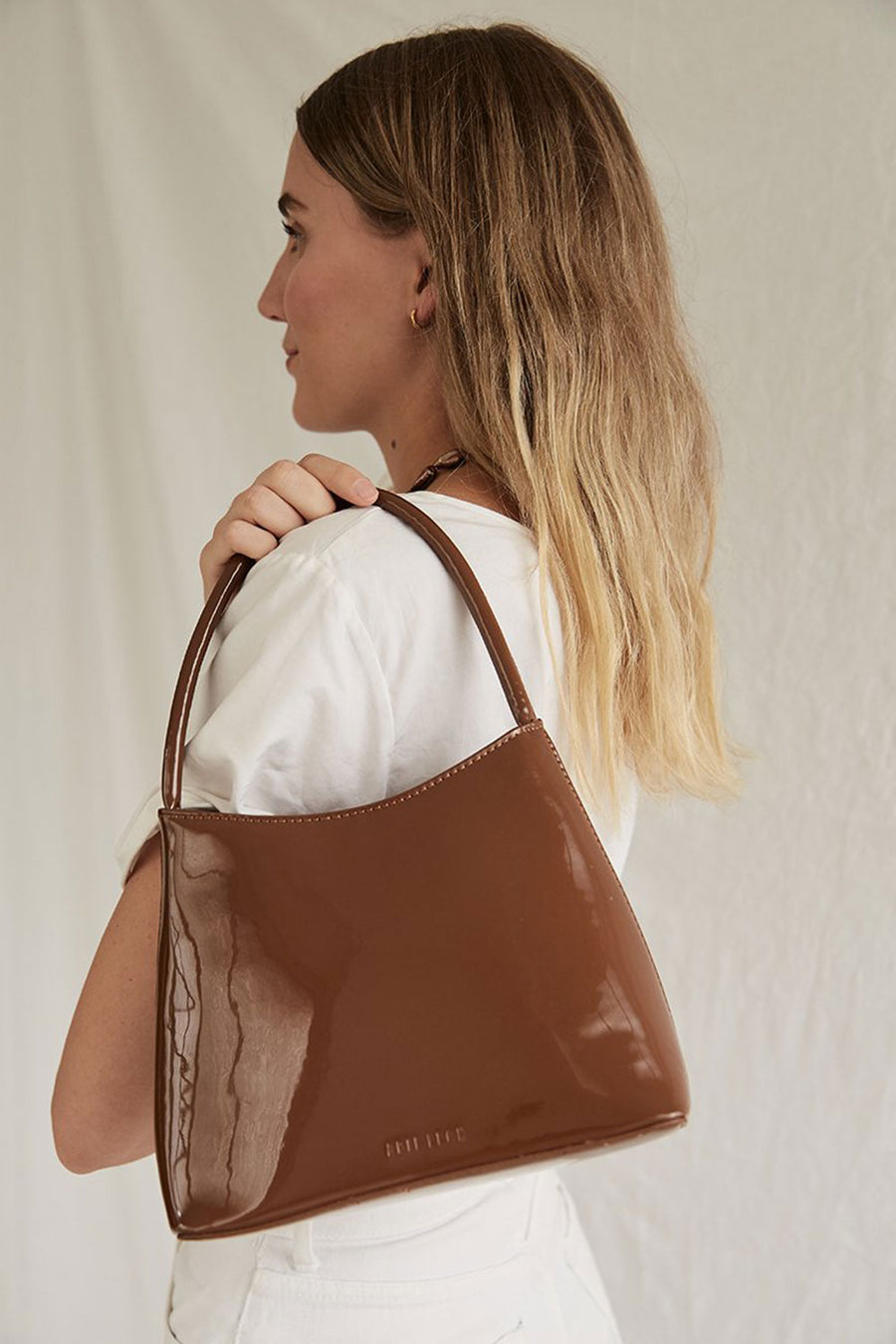 THE CHLOE | MUTED BROWN PATENT