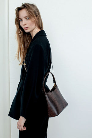 The Chloe | Dark Brown Snake | BRIE LEON NZ | Bags NZ | Black Box Boutique Auckland | Womens Fashion NZ
