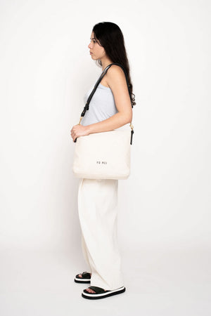 Braidy Bag | Natural Canvas | Bags NZ | YU MEI NZ | Black Box Boutique Auckland | Womens Fashion NZ