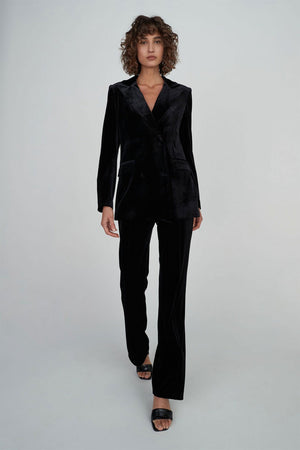 Clarrie Velvet Jacket | Black | Outerwear NZ | HANSEN & GRETEL NZ | Black Box Boutique Auckland | Womens Fashion NZ