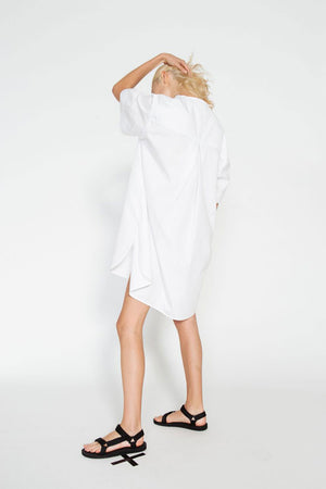 COCONUT SHIRT DRESS | WHITE