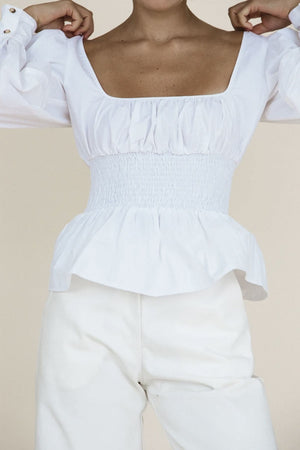 Colombo Top | White | Tops NZ | CIAO LUCIA NZ | Black Box Boutique Auckland | Womens Fashion NZ