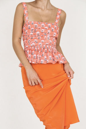 Concetta Skirt | Tomato Silk | Bottoms NZ | CIAO LUCIA NZ | Black Box Boutique Auckland | Womens Fashion NZ