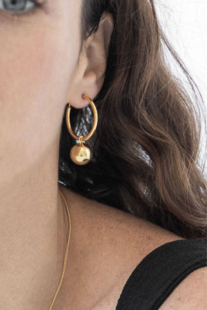 Disco Hoops | Gold | Jewellery NZ | FLASH JEWELLERY NZ | Black Box Boutique Auckland | Womens Fashion NZ