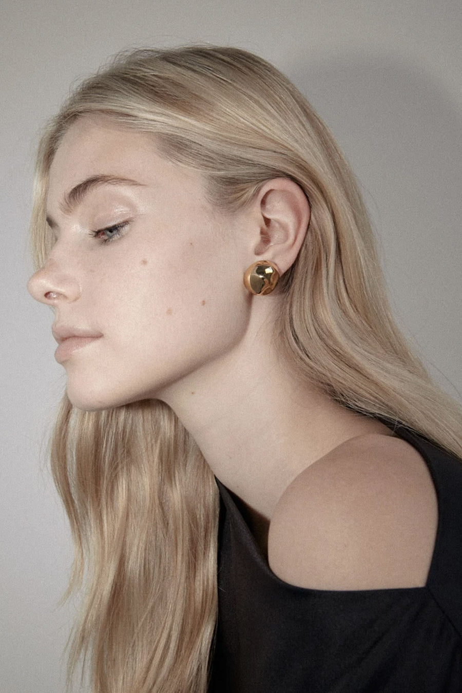 Placebo Dome Earrings | Gold | Stock NZ | FLASH JEWELLERY NZ | Black Box Boutique Auckland | Womens Fashion NZ