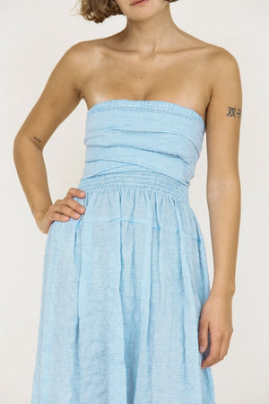 Gia Dress | Baby Blue Stripe | CIAO LUCIA NZ | Dresses NZ | Black Box Boutique Auckland | Womens Fashion NZ