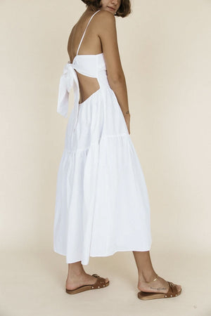 Gioia Dress | White Washed Cotton | Dresses NZ | CIAO LUCIA NZ | Black Box Boutique Auckland | Womens Fashion NZ