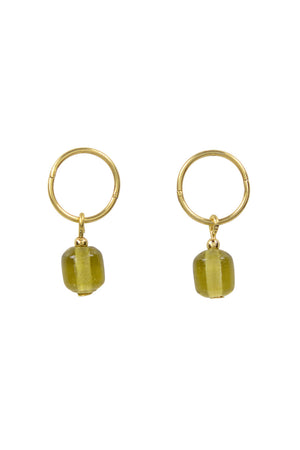 Glass Bead Studs | Gold Matcha | Jewellery NZ | BRIE LEON NZ | Black Box Boutique Auckland | Womens Fashion NZ