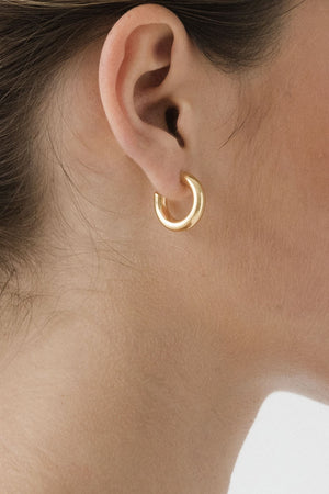 Goldie Tube Hoops | Gold | Jewellery NZ | FLASH JEWELLERY NZ | Black Box Boutique Auckland | Womens Fashion NZ