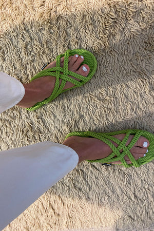 Classic Bahama Key Lime Rope Sandal | Footwear NZ | GURKEE'S NZ | Black Box Boutique Auckland | Womens Fashion NZ
