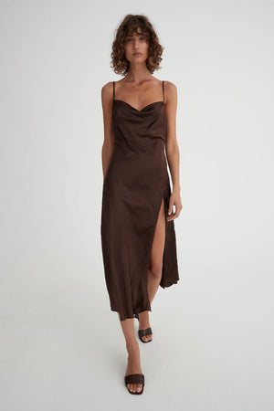 Crawford Dress | Chocolate | Dresses NZ | HANSEN & GRETEL NZ | Black Box Boutique Auckland | Womens Fashion NZ