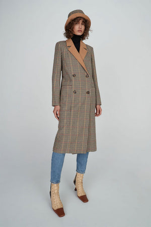 Millard Coat | Check | HANSEN & GRETEL NZ | Outerwear NZ | Black Box Boutique Auckland | Womens Fashion NZ