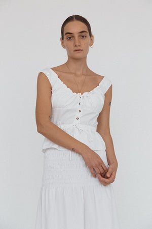 Ilaria Top | White | Tops NZ | CIAO LUCIA NZ | Black Box Boutique Auckland | Womens Fashion NZ