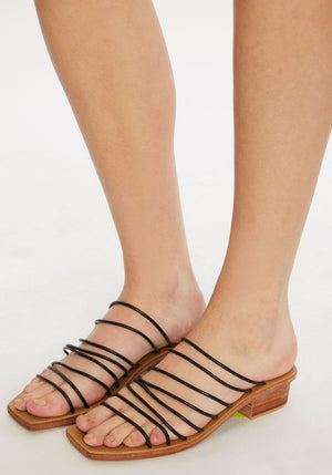 Ines Sandal | Black | ST AGNI NZ | Footwear NZ | Black Box Boutique Auckland | Womens Fashion NZ