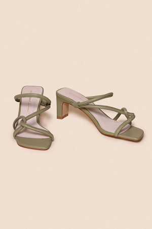 Willow Heel | Sage | INTENTIONALLY BLANK NZ | Footwear NZ | Black Box Boutique Auckland | Womens Fashion NZ