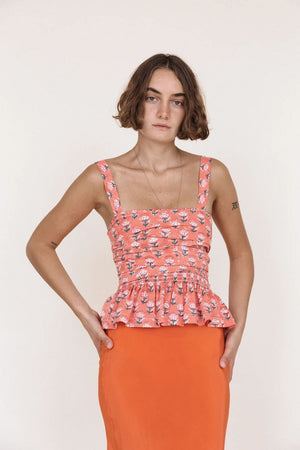 Isla Top | Coral Floral | Tops NZ | CIAO LUCIA NZ | Black Box Boutique Auckland | Womens Fashion NZ