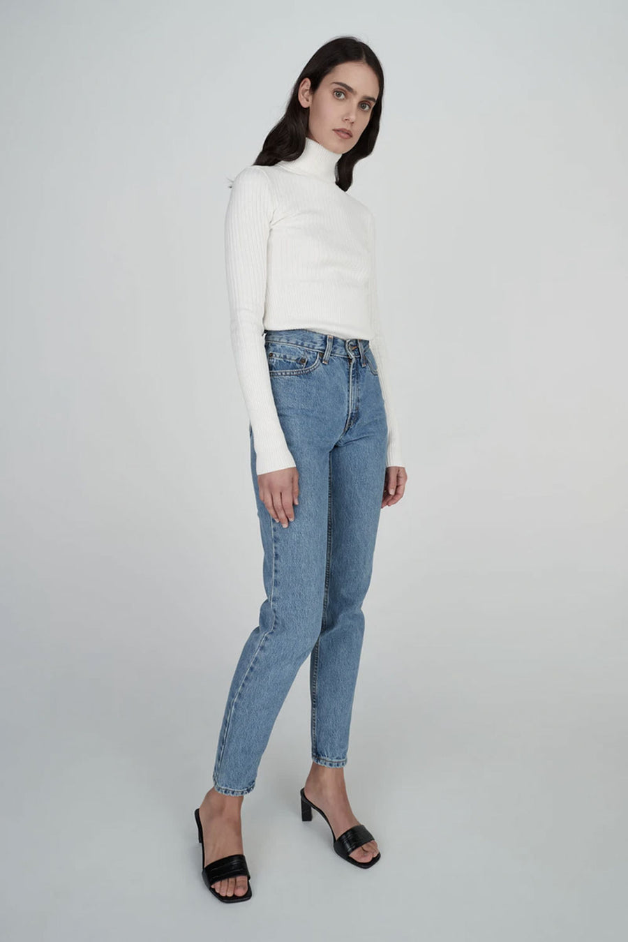 Jaclyn Cashmere Turtleneck | White | Tops NZ | HANSEN & GRETEL NZ | Black Box Boutique Auckland | Womens Fashion NZ