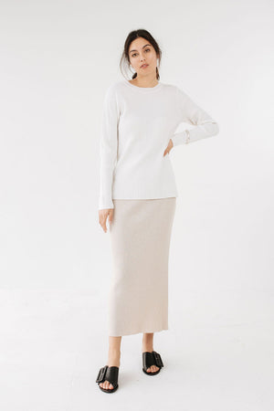 Johanna Knit | Ivory | Tops NZ | MARLE NZ | Black Box Boutique Auckland | Womens Fashion NZ