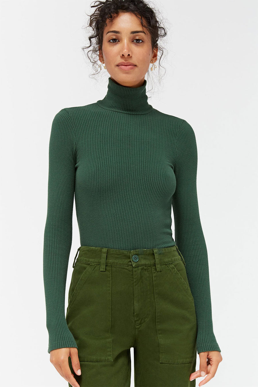 Sweater Rib Turtleneck | Absynthe | Tops NZ | LACAUSA NZ | Black Box Boutique Auckland | Womens Fashion NZ