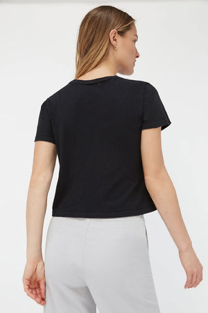 Luxe Foster Tee | Tar | LACAUSA NZ | Tops NZ | Black Box Boutique Auckland | Womens Fashion NZ