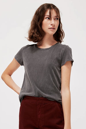 Luxe Frank Tee | Slate | Tops NZ | LACAUSA NZ | Black Box Boutique Auckland | Womens Fashion NZ
