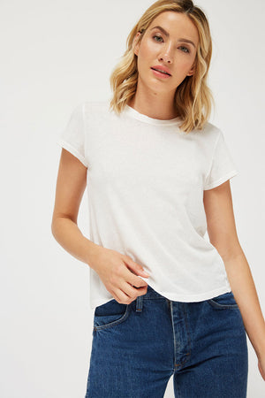 LUXE FRANK TEE | WHITEWASH | LACAUSA NZ | Tops NZ | Black Box Boutique Auckland | Womens Fashion NZ