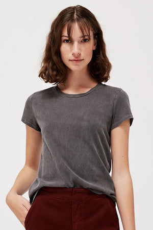 Luxe Frank Tee | Slate | LACAUSA NZ | Tops NZ | Black Box Boutique Auckland | Womens Fashion NZ