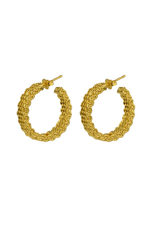 Malla Stud Hoops | Gold | BRIE LEON NZ | Jewellery NZ | Black Box Boutique Auckland | Womens Fashion NZ