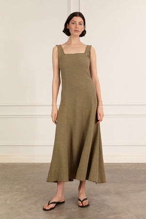 Anouk Dress | Khaki | Dresses NZ | MARLE NZ | Black Box Boutique Auckland | Womens Fashion NZ