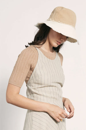 Nonna Hat | Taupe/Ivory | Accessories NZ | MARLE NZ | Black Box Boutique Auckland | Womens Fashion NZ
