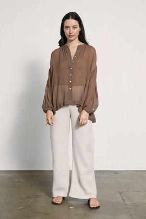 Hunter Shirt | Taupe | MARLE NZ | Tops NZ | Black Box Boutique Auckland | Womens Fashion NZ