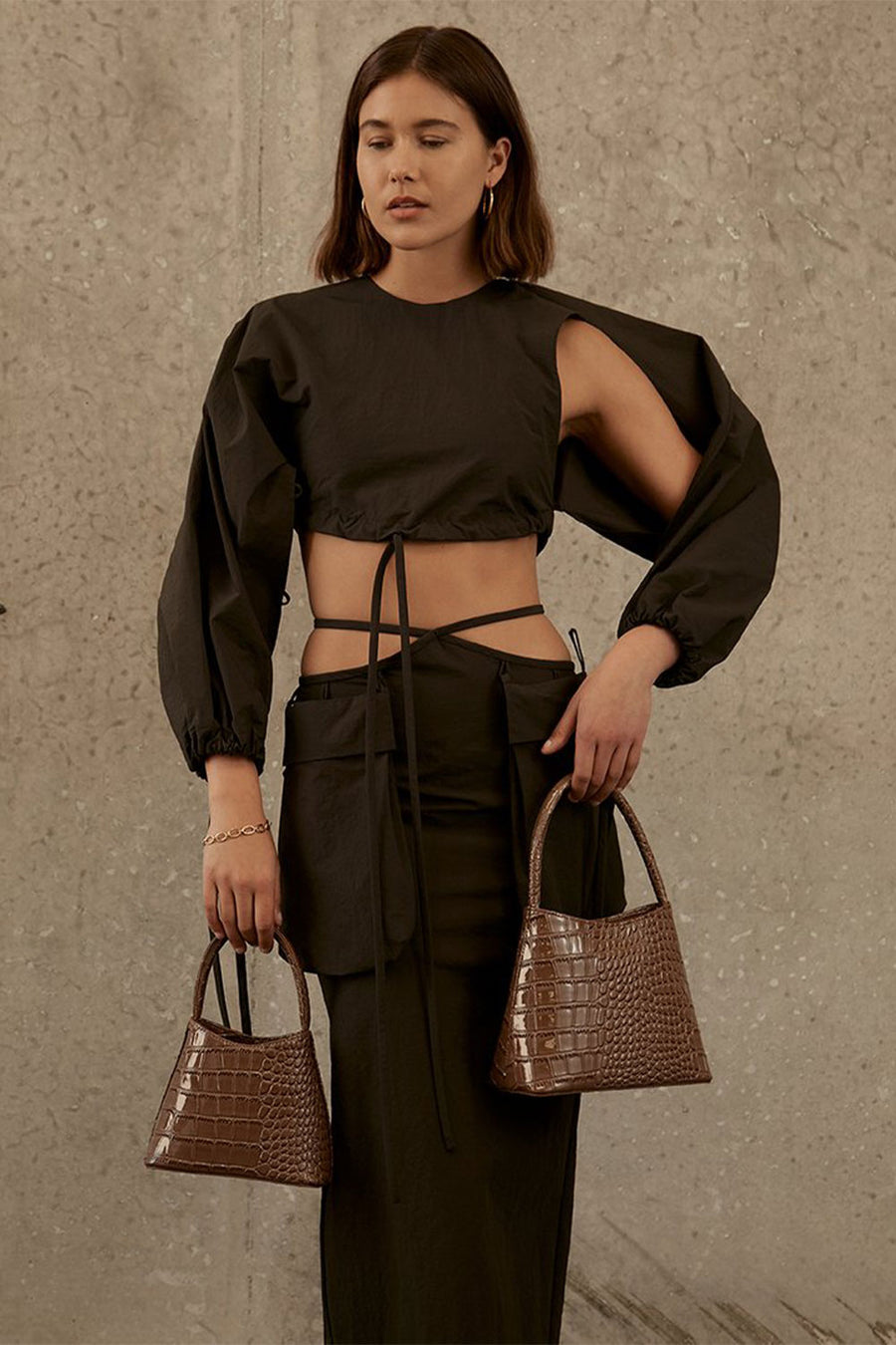 The Mini Chloe | Mocha Croc | Bags NZ | BRIE LEON NZ | Black Box Boutique Auckland | Womens Fashion NZ