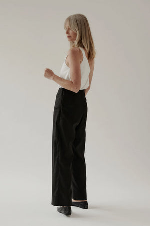 Moi Pant | Black Linen | MINA NZ | Bottoms NZ | Black Box Boutique Auckland | Womens Fashion NZ