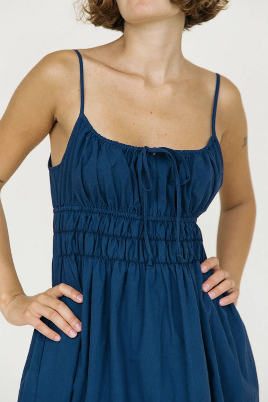 Gabriela Dress | Washed Cotton Navy | Dresses NZ | CIAO LUCIA NZ | Black Box Boutique Auckland | Womens Fashion NZ