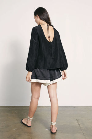 Oliver Top | Black | Tops NZ | MARLE NZ | Black Box Boutique Auckland | Womens Fashion NZ