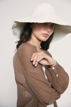 Oma Hat | Ivory | Accessories NZ | MARLE NZ | Black Box Boutique Auckland | Womens Fashion NZ