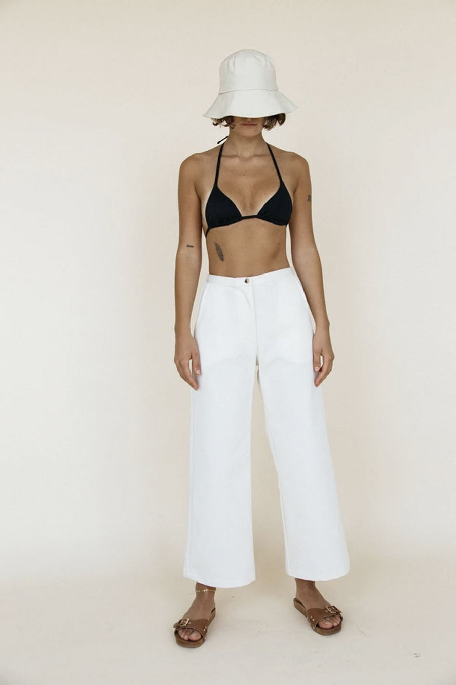 Orlando Pant | Ivory | Bottoms NZ | CIAO LUCIA NZ | Black Box Boutique Auckland | Womens Fashion NZ