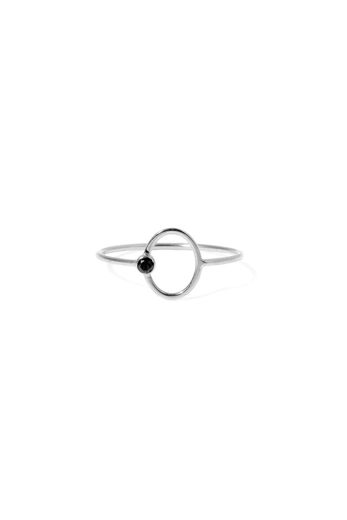 STONE OVAL RING SS BD