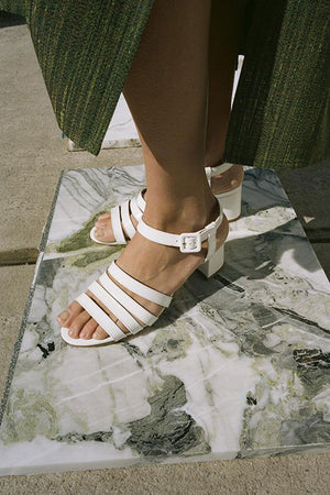 PALMA HIGH SANDAL | WHITE