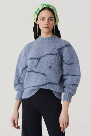 Palmira Knit | Extralight Blue | PALOMA WOOL NZ | Tops NZ | Black Box Boutique Auckland | Womens Fashion NZ