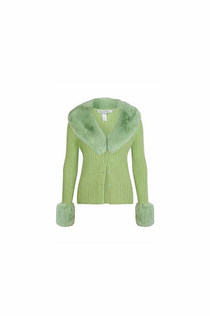 PRE ORDER | Peggy Cardi | Palm Green | HOUSE OF SUNNY NZ | Tops NZ | Black Box Boutique Auckland | Womens Fashion NZ