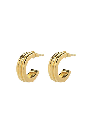Large Ranura Earrings | Gold | Stock NZ | BRIE LEON NZ | Black Box Boutique Auckland | Womens Fashion NZ