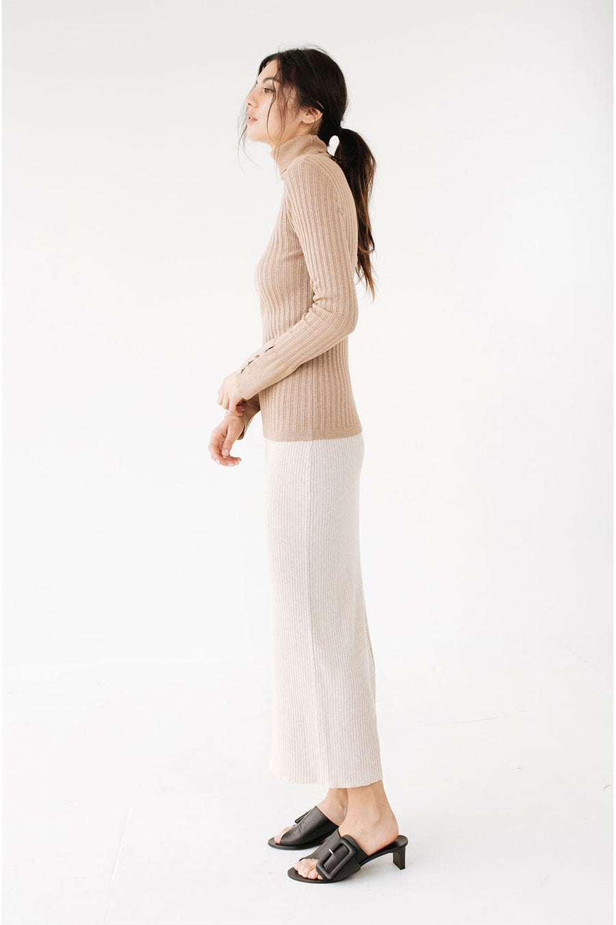 Remi Turtle Neck | Camel | Tops NZ | MARLE NZ | Black Box Boutique Auckland | Womens Fashion NZ