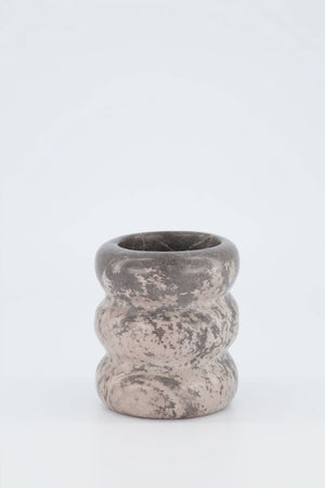 Soapstone Roll Vessel | Malachite